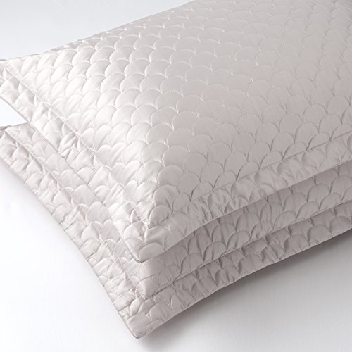 Nikki Chu SH000562 Pillow Sham, Queen, Silver Cloud