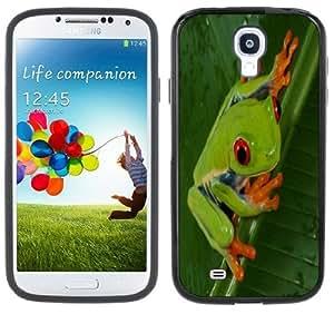Frog Tree Rainforest Handmade Samsung Galaxy S4 Black Bumper Hard Plastic Case