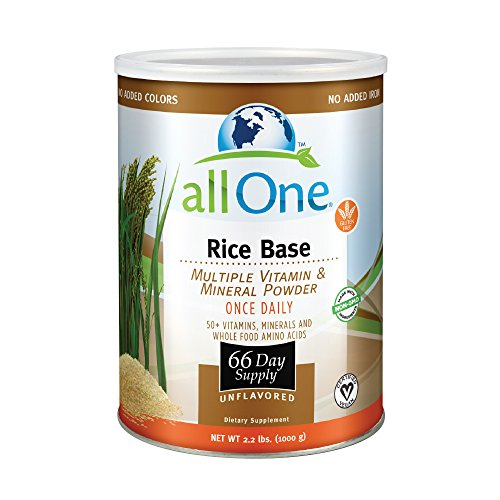 allOne® Rice Base Multiple Vitamin & Mineral Powder | Once Daily Multivitamin, Mineral & Whole Food Amino Acid Supplement w/6g Protein | 66 Servings