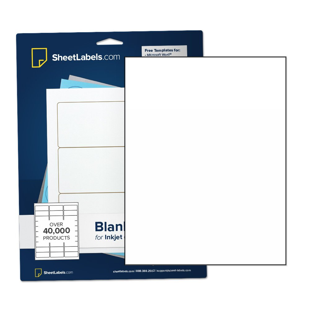 Amazon com sticker paper full sheet labels all purpose 8 5 x 11 white matte laser or inkjet printing no back slit 25 labels office products