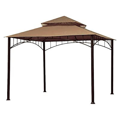 ABCCANOPY Replacement 10'X10' Summer Canopy Soft Top Gazebo Beige with Rip Lock Technology : Garden & Outdoor
