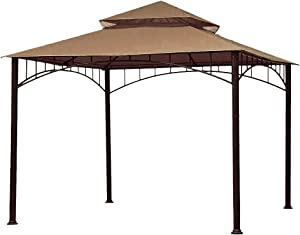 ABCCANOPY Replacement 10'X10' Summer Canopy Soft Top Gazebo Beige with Rip Lock Technology