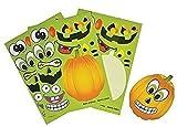 Rhode Island Novelty Make a Pumpkin Jack-o-lantern Halloween Sticker Sheets