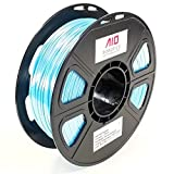 AIO Robotics AIOBLUESILK PLA 3D Printer Filament, 0.5 kg Spool, Dimensional Accuracy +/- 0.02 mm, 1.75 mm, Silk Blue