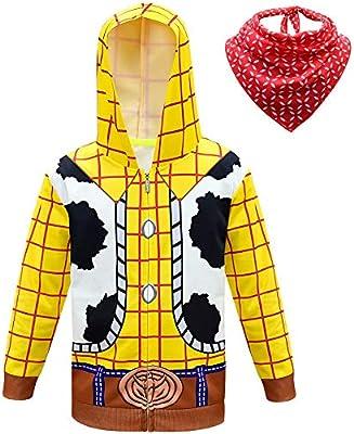GJBXP Anime Toy Story 4 Sherif Woody uniforme Chaqueta con capucha ...