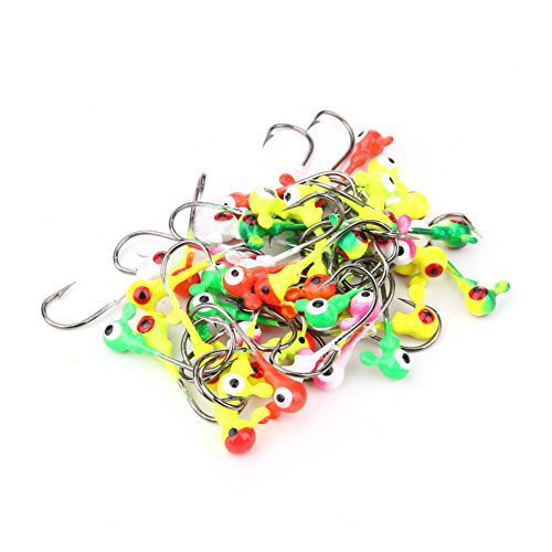 Chinatera Fishing Jig Ball Hooks Lead Round Head Hook Fishing Hooks