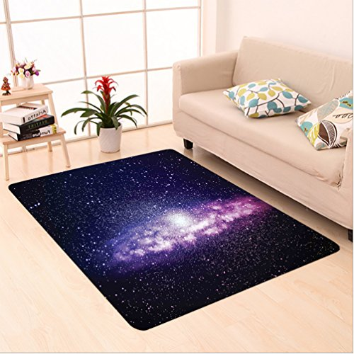Nalahome Custom carpet uring Nebula Cloud in Milky Way Infinity in Interstellar Solar Explosion Design Purple Dark Blue area rugs for Living Dining Room Bedroom Hallway Office Carpet (36''x118'') by Nalahome