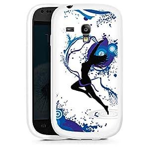 Silicona Carcasa blanco Funda para Samsung Galaxy S3 Mini - Dance Fairy blue
