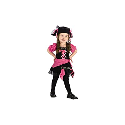 Fun World Toddler Girl's Pink Punk Pirate Baby Costume, Multi, Small: Clothing