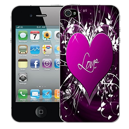 Mobile Case Mate iPhone 5c Silicone Coque couverture case cover Pare-chocs + STYLET - Purple Love Embrace pattern (SILICON)