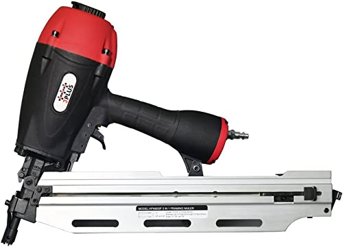 3PLUS HFN90SP 3-in-1 Air Framing Nailer with adjustable magazine for 21 28 34 degree nails