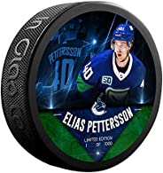Elias Pettersson Vancouver_Canucks Unsigned Fanatics Exclusive Player Hockey Puck - Limited Edition of 1000
