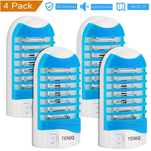 Bug Zapper Electronic Insect Killer, Indoor Mosquito Killer Lamp,Eliminates Most Flying Pests! Teniq Night Lamp Ideal for Bedroom (pack of 4) (Bulbs That Light Bugs Away Keep)