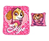 Paw Patrol 97856 2 Pack Throw and Pillow, Skye