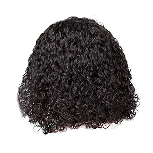 US shipment Clearance Brazilian Rose Hair Net Full Wig Bob Wave Black Natural Looking Women Wigs by USLovee3000