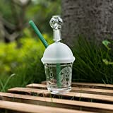 10mm/14mm/18mm Handmade Glass Rig Starbucks Cup Including a Gift (10mmGreen)