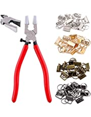 """Swpeet 41 Sets 1"""" 25mm 4 Colors Key Fob Hardware with 1Pcs Key Fob Pliers, Glass Running Pliers Tools with Jaws, Studio Running Pliers Attach Rubber Tips Perfect for Key Fob 4Hardware Install"""