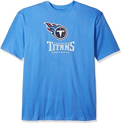 NFL Tennessee Titans Men S/S TEAM COLOR TEE, COAST BLUE, 3XT