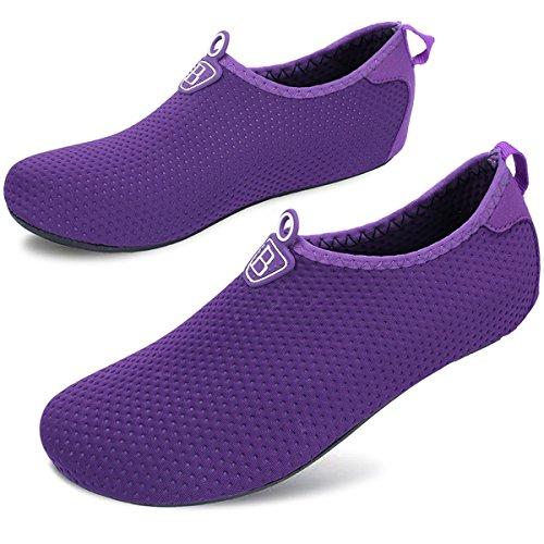 Surf for Men Purple Sports Yoga Dry Women Dark Socks Swim Shoes Quick Water Barefoot Beach Barerun for Aqua Pool wa7q6W