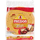 tomato basil tortillas - Mission, Sun-Dried Tomato & Basil Wraps, 6 Count, 15oz Package (Pack of 4)