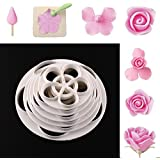 Zoomy far: 6PCS Rose Flower Fondant Cake Big Cookie Cutter Mold Cooking Cutter Tools Drop shipping Double sugar cake