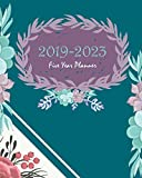 """2019-2023 Five Year Planner: Blue Green Cactus Cover,  60 Months Calendar Planner Agenda with Holidays Planner 8"""" x 10"""""""