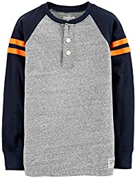 Boys' Long Sleeve Raglan Henley