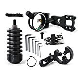 daremen Compound Bow Archery Essential Archer Upgrade Combo Sight Kits Shooting Hunting Set Including 5-pin Bow Sight, Arrow Rest, Stabilizer, Braided Bow Sling, Peep sight,D-Loop,Allen Wrench Set