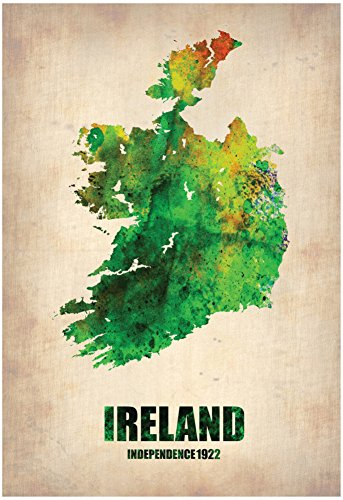 Ireland Watercolor Map Poster by NaxArt