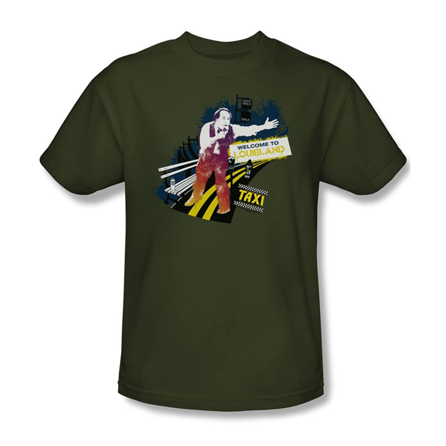 Cbs - Taxi / Louiland Adult T-Shirt In Military Green