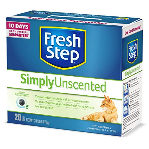 Fresh Step Simply Unscented Litter, Clumping Cat Litter, 20 Pounds