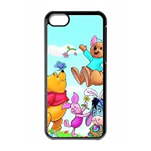 Special Design Case iPhone 5C Black Cell Phone Case Rxruh The Many Adventures of Winnie the Pooh Durable Rubber Cover