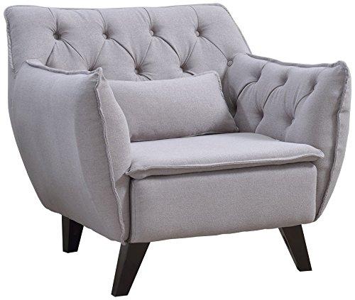 Modern Mid Century Chair - Tufted Design