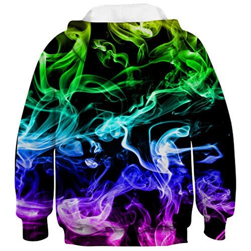 Felpa 3d D anni Girl Pullover 6 16 Smoke Aideaone Boy cappuccio con qRxEwtzv