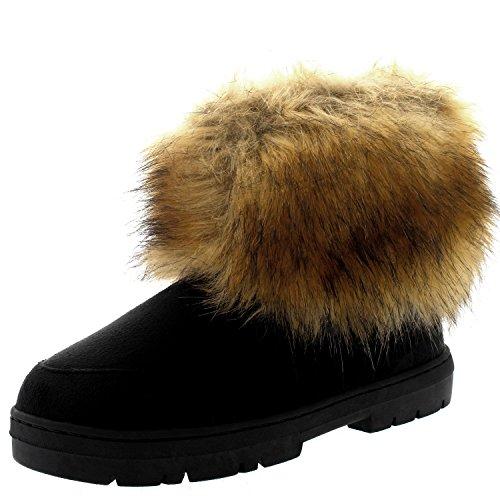 Invierno Impermeable CoveRojo Pelaje Negro Holly Botas Mujer Short Lluvia Nieve Rabbit Yeti Esquimal wqHv10