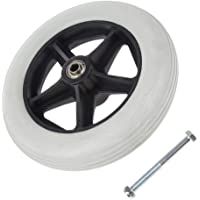 """dailymall Durable 8"""" Wheelchair Front Castor Wheel Replacement Part Heavy Duty Silence"""