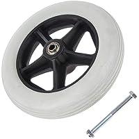 Fityle 8 inch Wheelchairs Rollator Replacement Wheels,Wearproof, Anti-slip