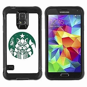 A-type Arte & diseño Anti-Slip Shockproof TPU Fundas Cover Cubre Case para Samsung Galaxy S5 V / SM-G900 ( Funny Video Game Logo )