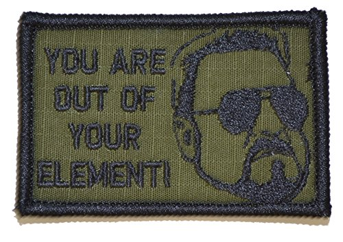 """Walter """"You Are Out of Your Element!"""" 2x3 Morale Patch - Olive Drab OD"""