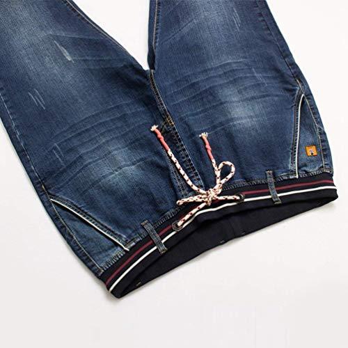 Ssig Jeans Skinny Stretch Denim Fit Straight Da Chino Pantaloni Blau Uomo Slim In Bermuda q1zCqt