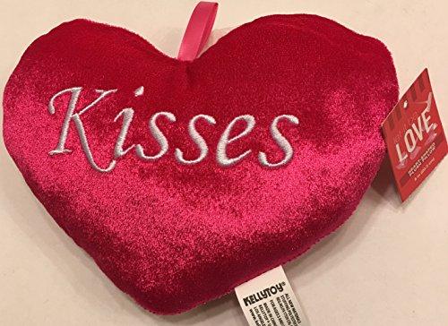 - Red Heart-Shaped Plush Door Hanger 8 Inch Pillow, Kisses