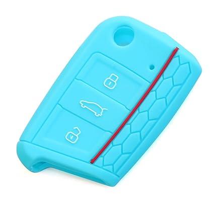 andygo silicona llavero piel Case Cover Fit Para Volkswagen ...