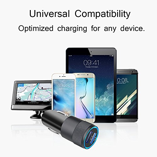 iPhone Car Charger, 3.1A Rapid Dual Port USB Car Charger + Lightning Cable Compatible iPhone X/8/8 Plus/7/6s/6s Plus 5S 5 5C SE,iPad More by UltraSealers (Image #5)