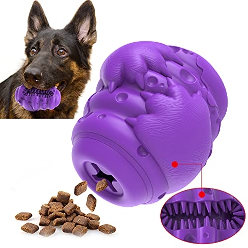 Dog Chew Toys for Aggressive Chewers Large Breed, Food Dispenser for Medium Puppies, Extra Durable Indestructible 100% Natural Rubber,Heavy Duty Tough Chew Toy for Big Large Breed Dogs