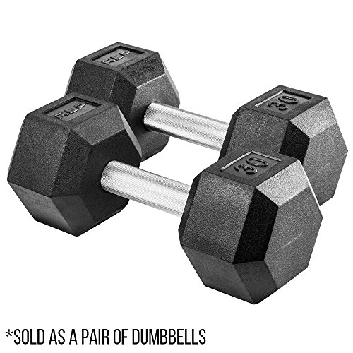 Rep Rubber Hex Dumbbells, 30 lb Pair by Rep Fitness (Image #6)