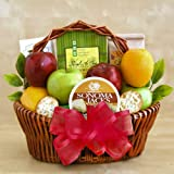 Fresh Fruit and Gourmet Goodies Holiday Gift Basket