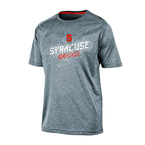 Champion (CHAFK) NCAA Syracuse Orange Men's Short Sleeve Crew Neck RA Tee, Large, Gray Heather