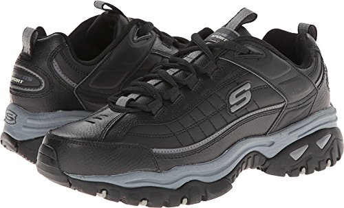 Skechers Men's Energy Afterburn Lace-Up Sneaker,Black/Gray,9.5 M US