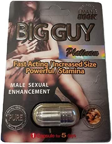 Big Guy Platinum 500K All Natural Male Enhancement - Fast Acting Increased Size Powerful Stamina (3 Pack)