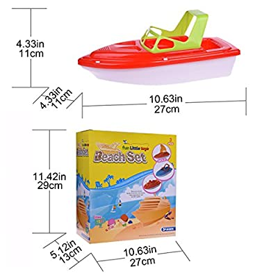 Children's Summer Beach Water Toys 3pc Yachat, Speed Boat, Sailing Boat, Aircraft Carrier, Fisher Toy Set for Birthday Party, Halloween, Christmas